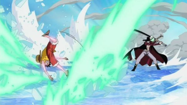 Luffy vs mihawk