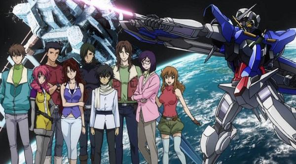 Gundam 00 anime robot trên đường