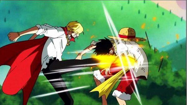 Sanji đấu tay đôi với Luffy